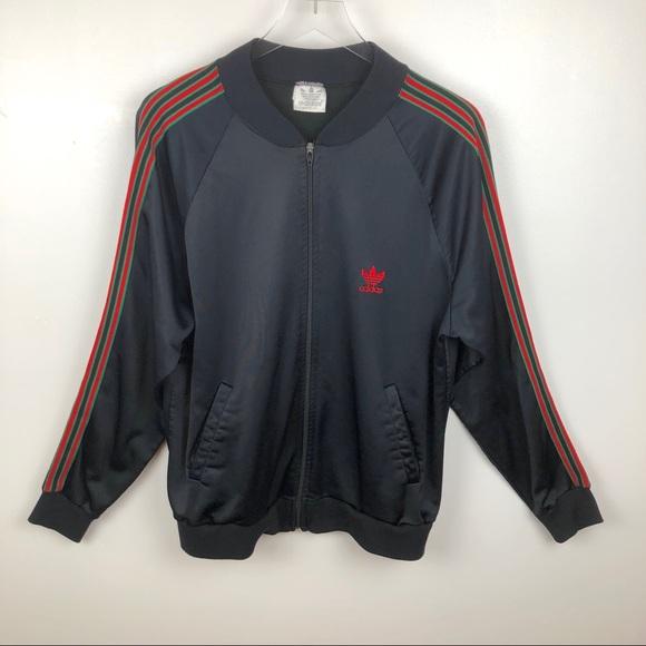 adidas Rare Vintage 3 Striped Trefoil Track Jacket